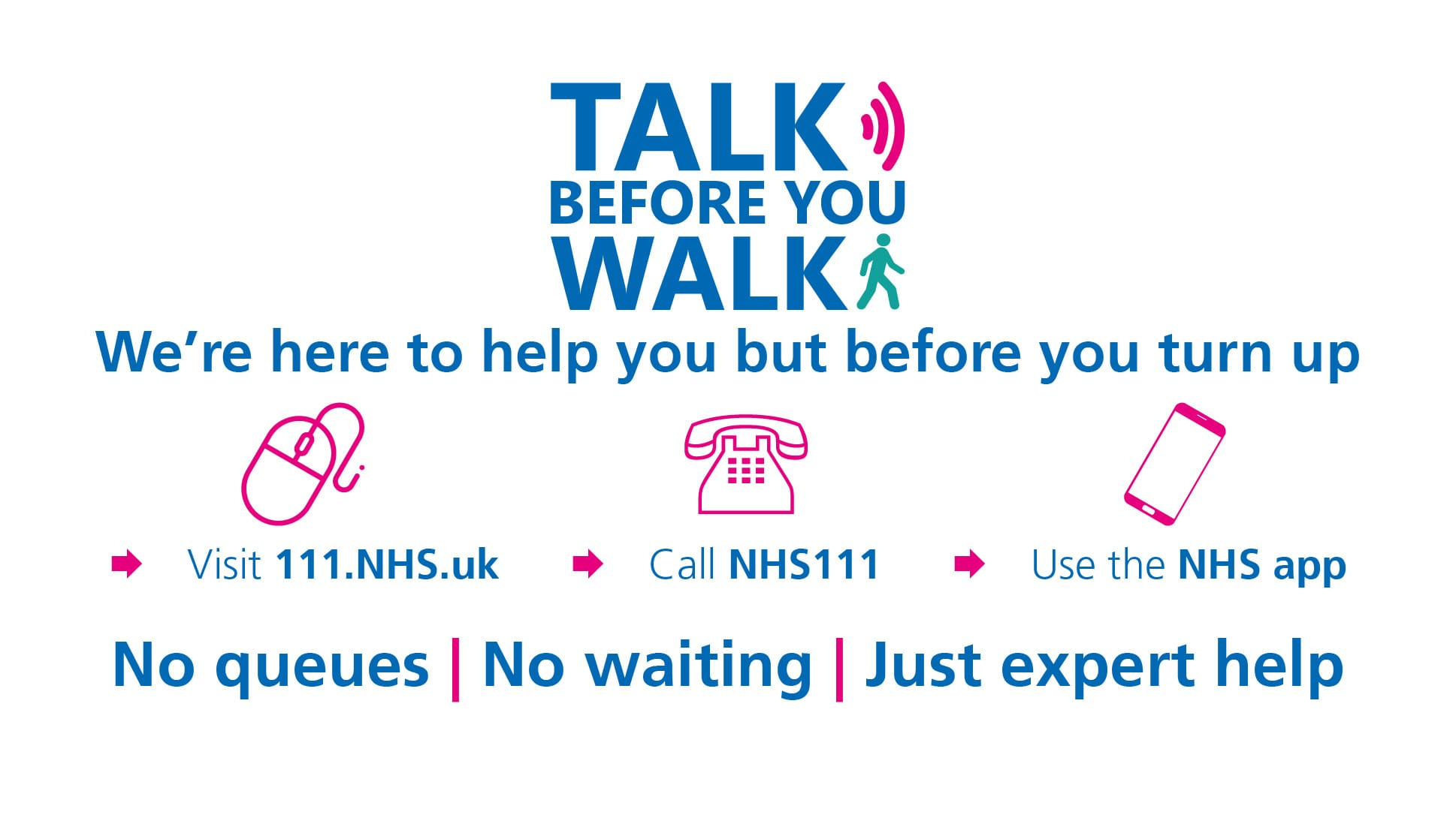 Talk before you walk campaign