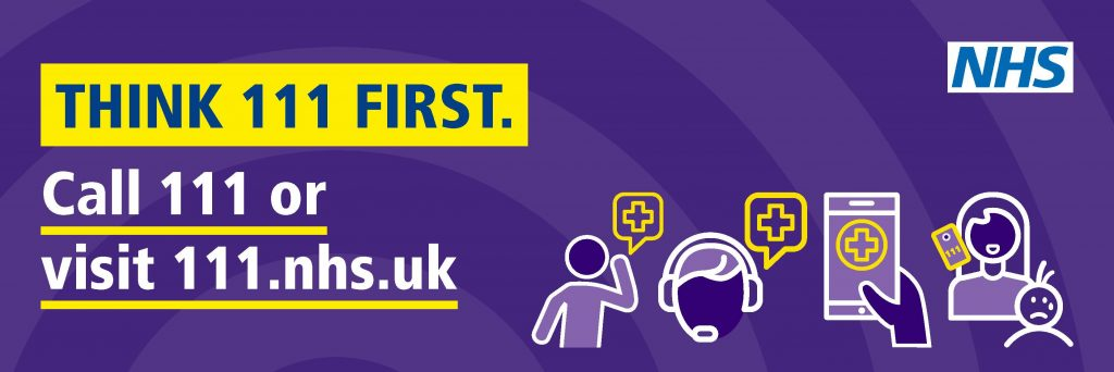 Think NHS 111 First