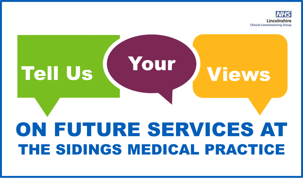 Tell us your views - The Sidings Medical Practice