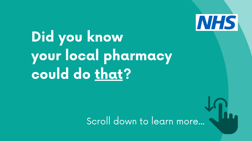 Did you knoe your local pharmacy could do that?